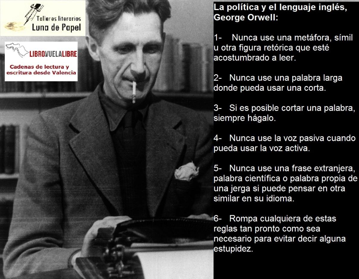 Escritura Creativa Valencia. GEORGE ORWELL: CONSEJOS PARA ESCRIBIR