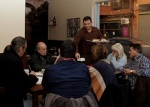 El Restaurante Taplá ofreció un selecta marienda literaria a los asistentes.
