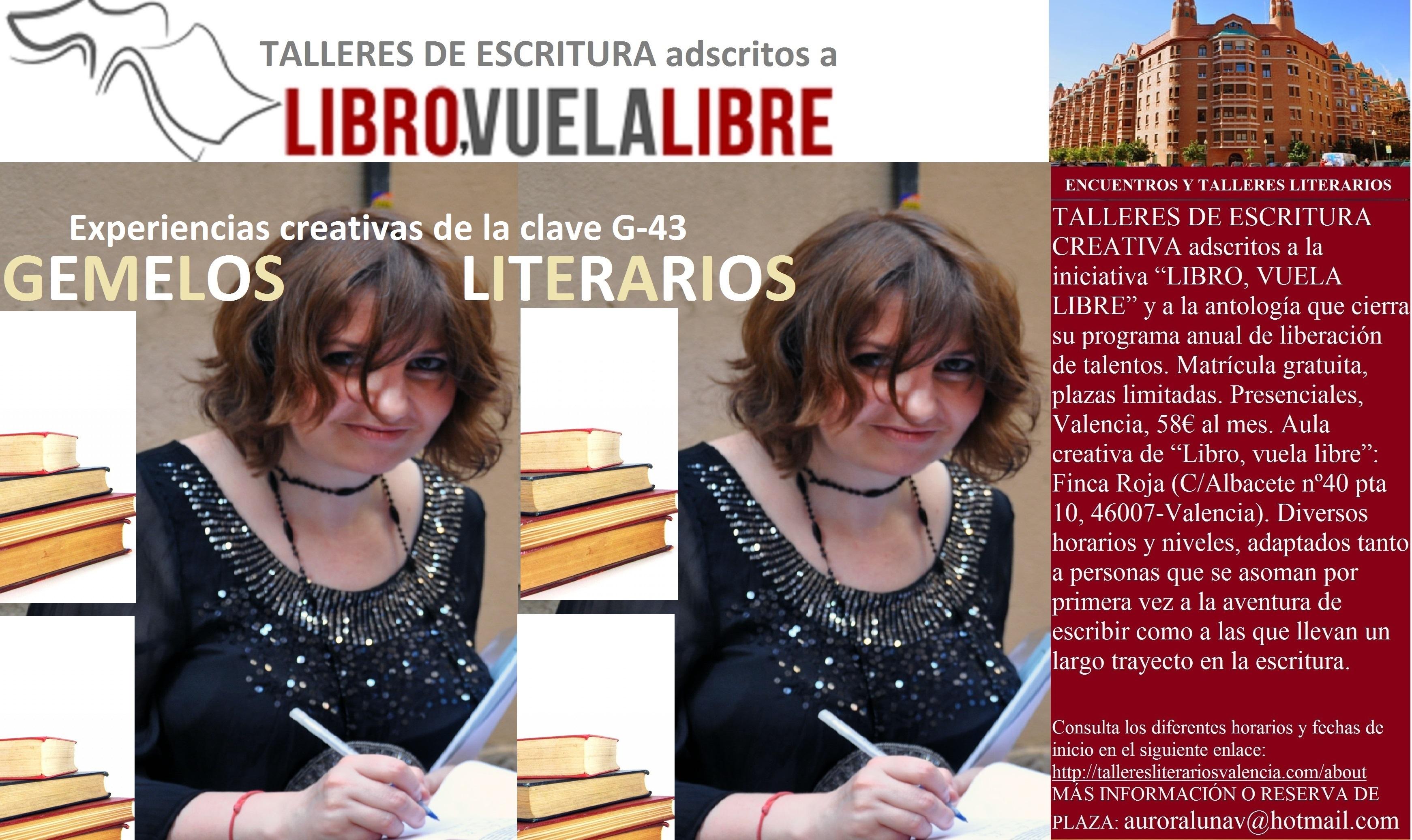 GEMELOS LITERARIOS. Talleres y cursos en Valencia de escritura creativa. Clave G-43