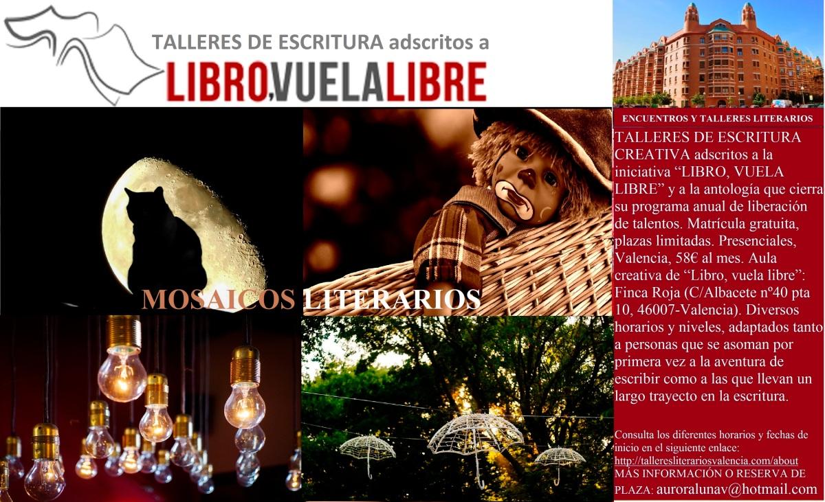 MOSAICOS LITERARIOS. Talleres y cursos presenciales en Valencia de escritura creativa. Clave T2