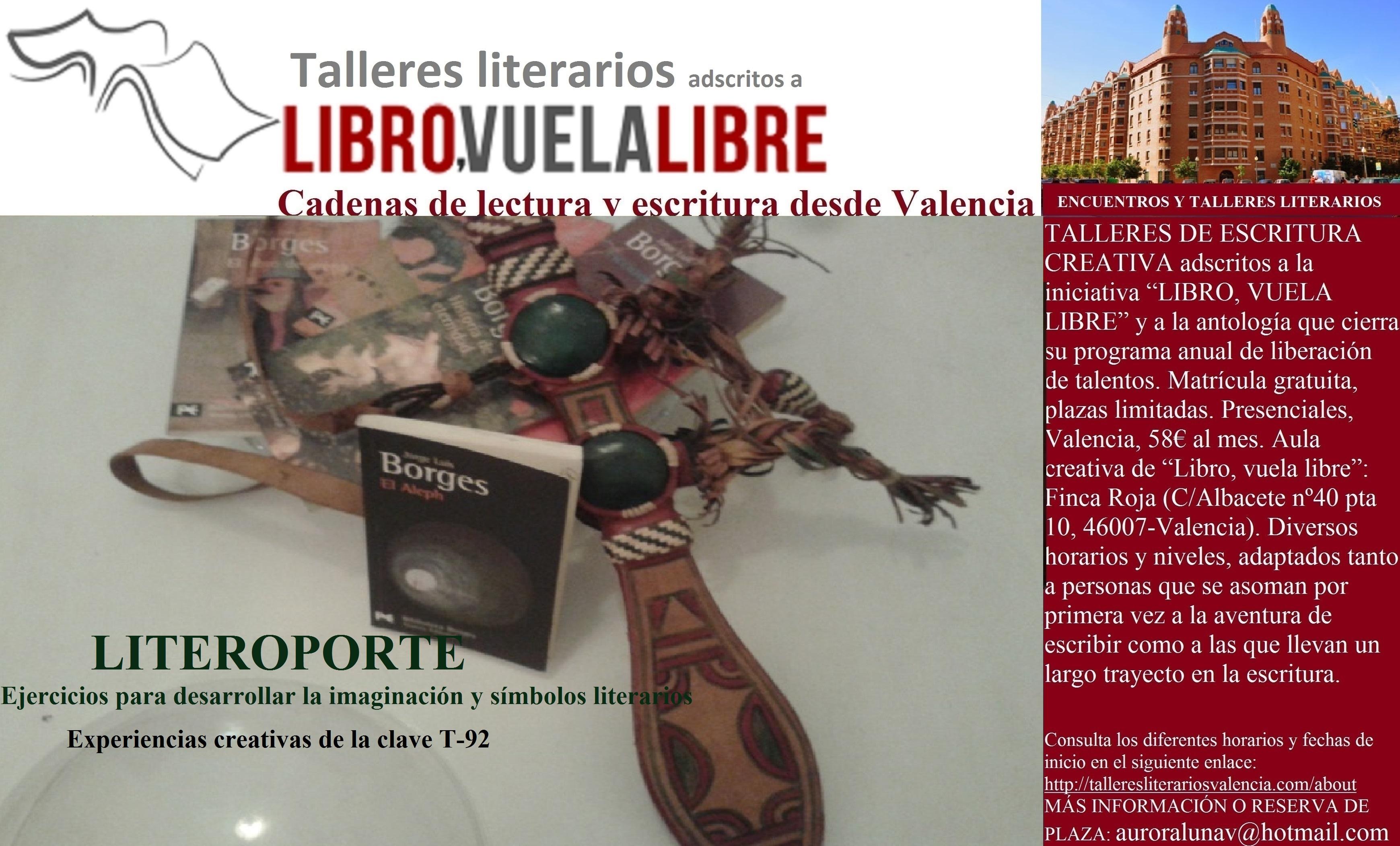 El regreso del LITEROPORTE. Cursos de verano en Valencia, clave de escritura T-92