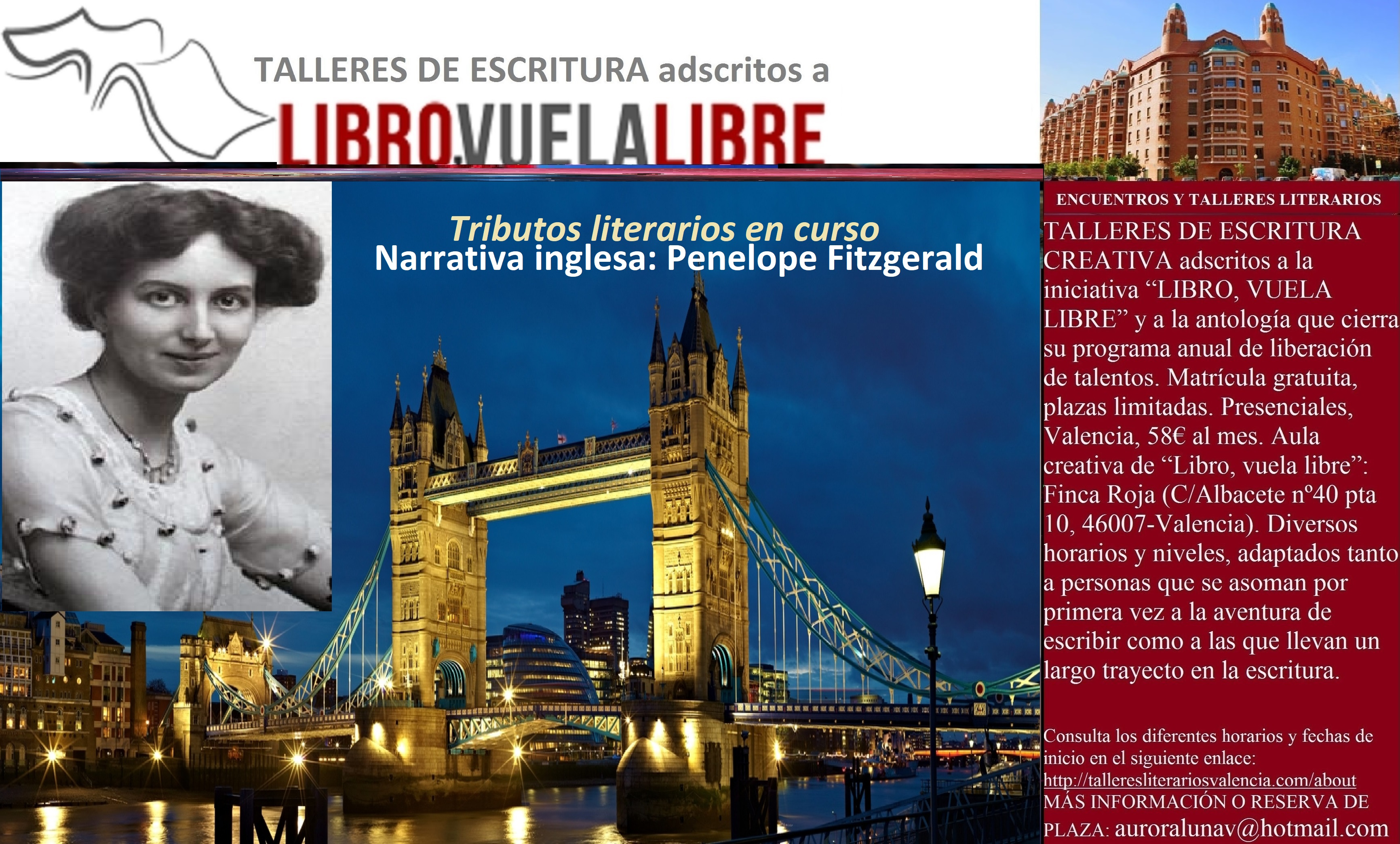 NARRATIVA INGLESA. Cursos de escritura creativa en Valencia, tributos