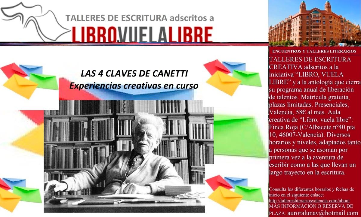 LAS 4 CLAVES DE CANETTI. Taller de escritura creativa, actividades complementarias en curso