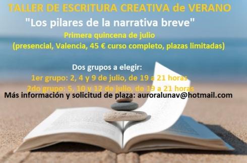 Taller de escritura de VERANO en Valencia
