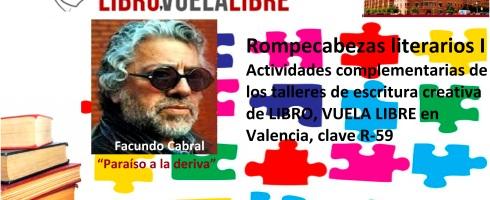 Cursos de escritura en Valencia de LIBRO, VUELA LIBRE. Rompecabezas literarios