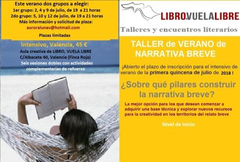 cursos de escritura en Valencia de narrativa breve