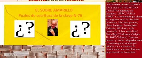 Ejercicios de escritura creativa en Valencia de la clave N-76