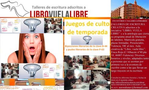 Juegos de culto de los talleres y cursos de escritura de LIBRO, VUELA LIBRE