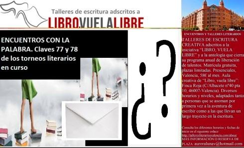 Claves 77 y 78 de los talleres en Valencia de LIBRO, VUELA LIBRE