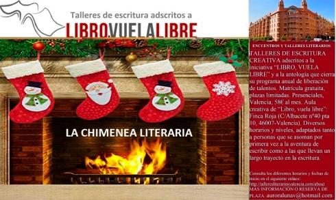 Club de lectura en Valencia de LIBRO, VUELA LIBRE. La chimenea literaria