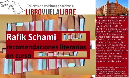 Recomendaciones literarias en curso del Club de lectura en Valencia de LIBRO, VUELA LIBRE