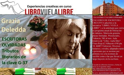 Grazia Deledda en los tributos en curso del taller d escritura en Valencia de LIBRO, VUELA LIBRE