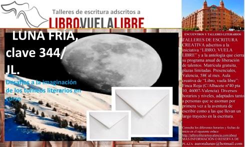 Taller literario en Valencia de LIBRO, VUELA LIBRE, clave 344 de los torneos de escritura en curso