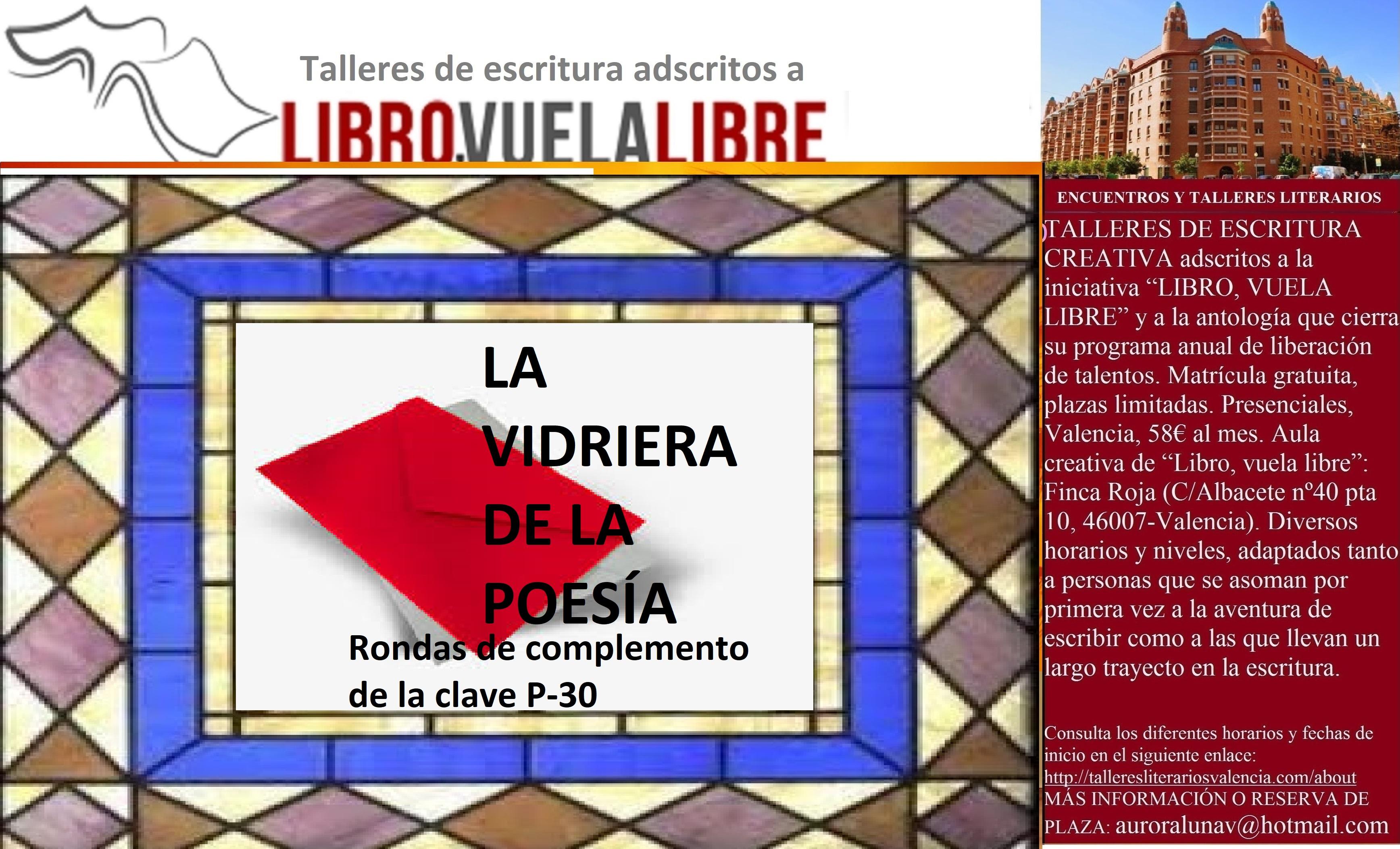 LA VIDRIERA DE LA POESÍA. Taller de creación literaria en curso, clave P-30