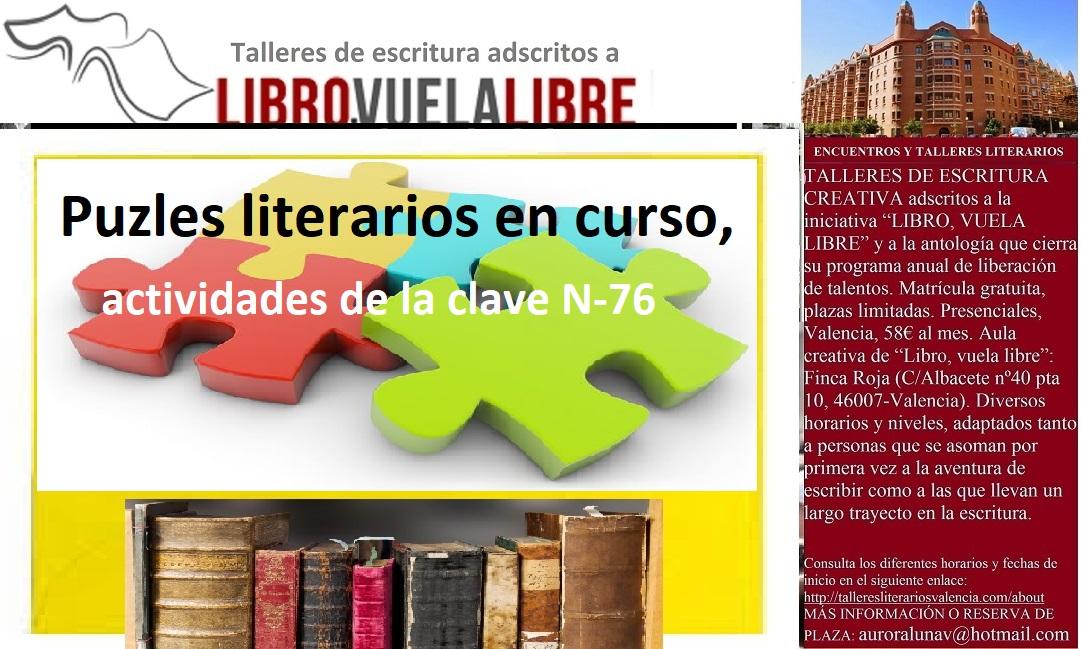 LIBRO, VUELA LIBRE. Puzles literarios en curso