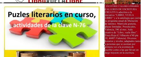 Clases de escritura de LIBRO, VUELA LIBRE. Puzles literarios del taller de escritura en curso