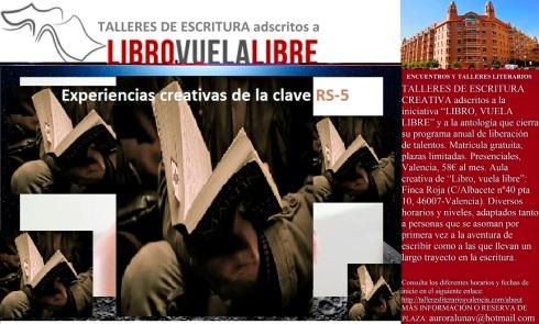 actividades creativas de la clave RS-5 en los talleres creativos en Valencia de LIBRO, VUELA LIBRE