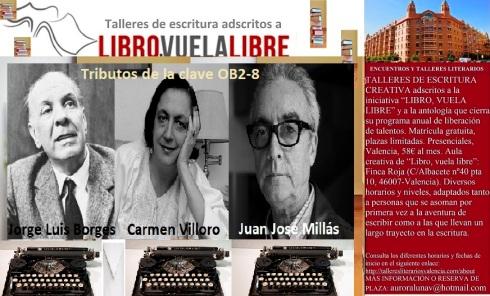 Tributos de la clave OB2-8 en los talleres literarios de LIBRO, VUELA LIBRE en Valencia