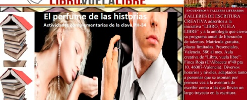 Relatos sensoriales de la clave PH-34 en el taller de escritura en Valencia de Libro, vuela libre