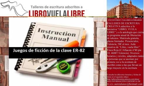 Clave ER-82. Ejercicios de ritmo en curso de los talleres de escritura en Valencia de LIBRO, VUELA LIBRE