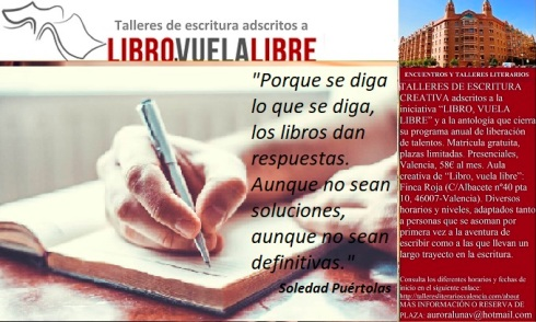 El mejor momento para escribir, reflexiones de los taller literario en Valencia de LIBRO, VULA LIBRE