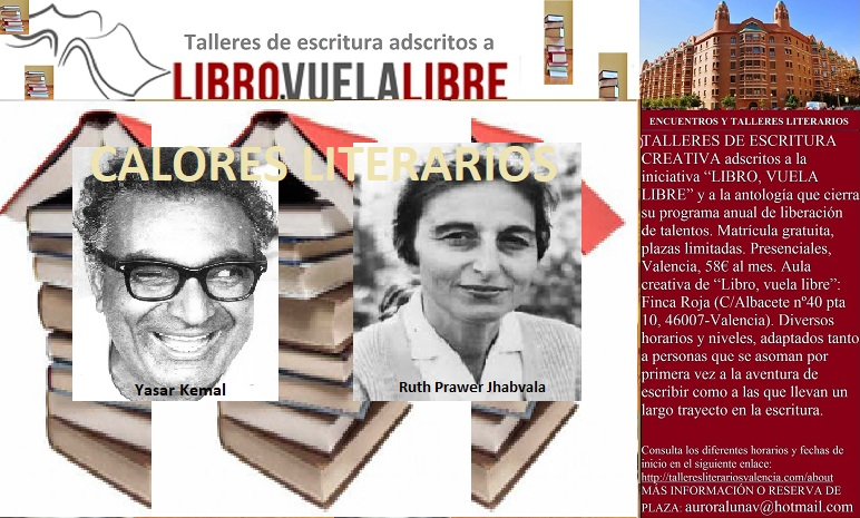 CALORES LITERARIOS. Talleres literarios en Valencia de LIBRO, VUELA LIBRE, recomendaciones en curso