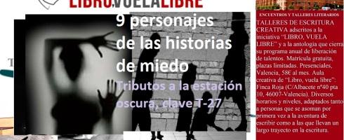 Nueve personajes de las historias de miedo en el taller de escritura en Valencia