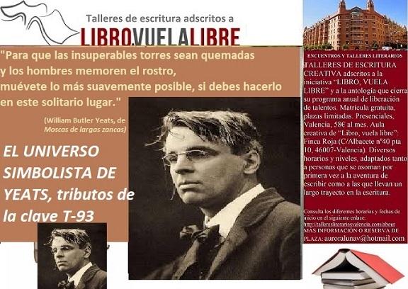 La poesía simbolista de Yeats en el taller de escritura en Valencia de LIBRO, VUELA LIBRE