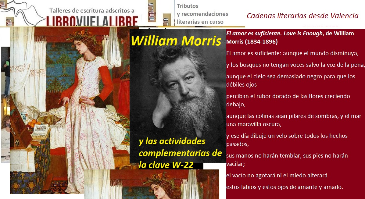 Talleres de poesía en Valencia y cursos de narrativa: TRIBUTOS A WILLIAM MORRIS