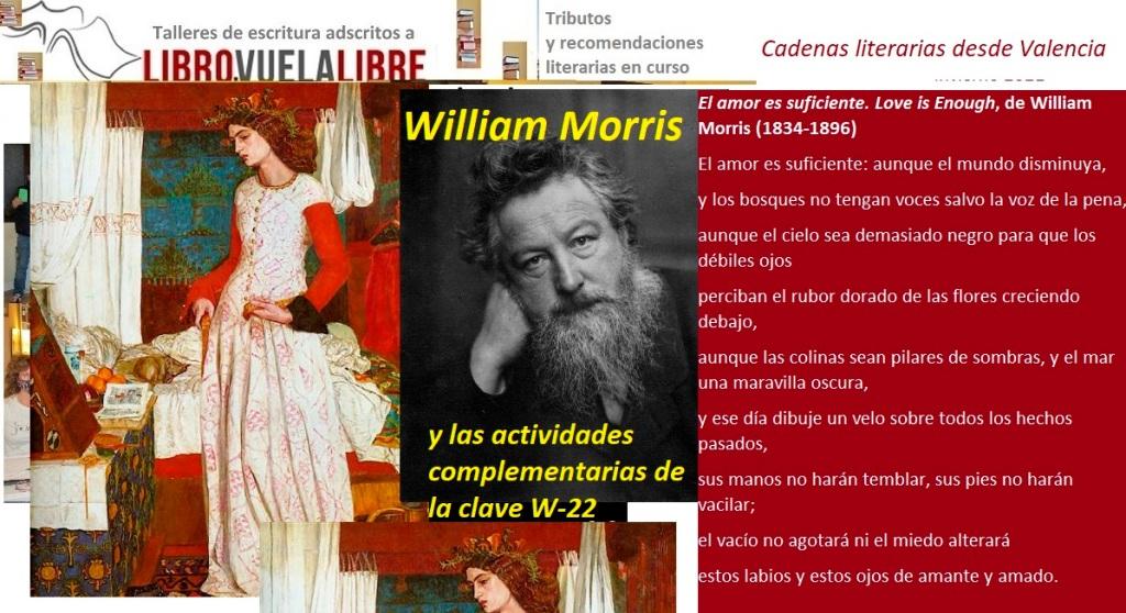 Tributos a Wiliam Morris en los talleres de poesía en Valencia online y presenciales y cursos de escritura de Libro vuela libre